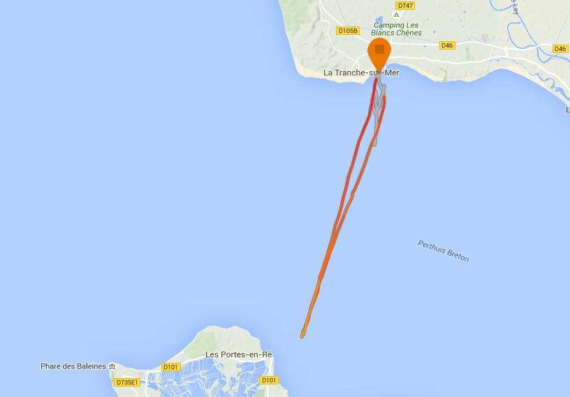 La Tranche Ile de Ré traces Nicolas Warembourg