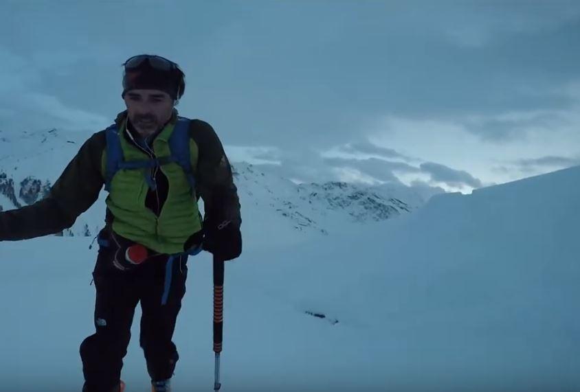 Ascension et descente ski en solo de nuit Rocher de Bellevarde(2826m)